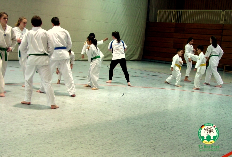 Taekwondo Training bei TC Han Kook